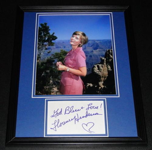 Florence Henderson Signed Framed 11x14 Photo Poster Display Brady Bunch