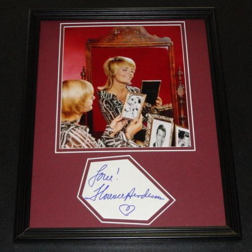 Florence Henderson Signed Framed 11x14 Photo Poster Display Brady Bunch B