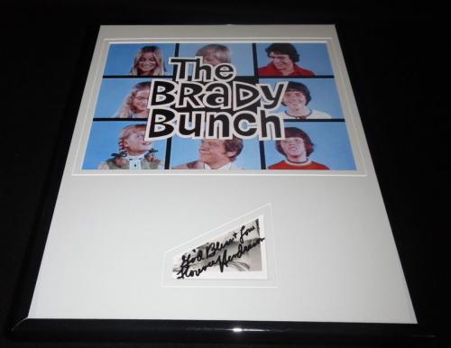 Florence Henderson Signed Framed 11x14 Photo Poster Display Brady Bunch Carol