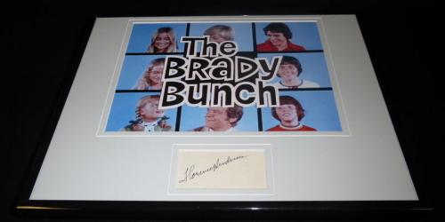 Florence Henderson Signed Framed 11x14 Photo Poster Display Brady Bunch w/ cast