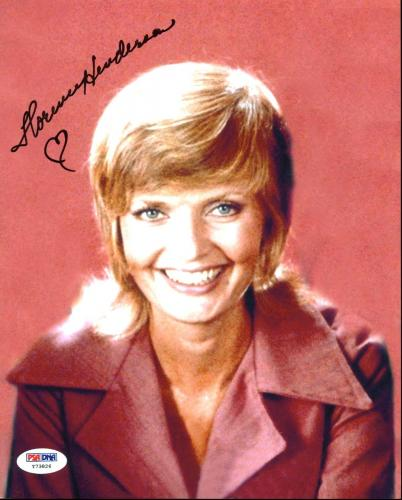 Florence Henderson The Brady Bunch Signed 8X10 Photo PSA/DNA #Y73826