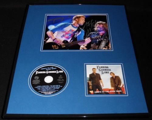Florida Georgia Line 16x20 Signed Framed Photo & CD Display Here's to Good Times
