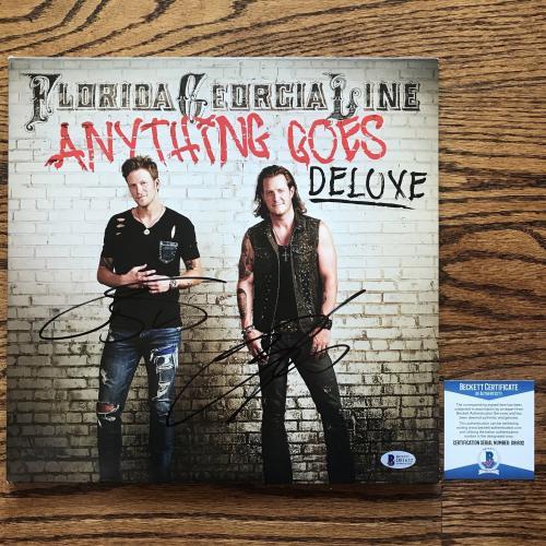 Florida Georgia Line Signed Anything Goes Album Cover Fgl Bas Coa #d81632