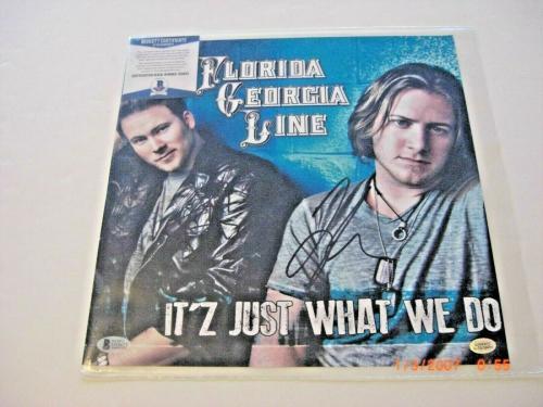 Florida Georgia Line Tyler Hubbard Brian Kelley Beckett/coa Signed Album Photo
