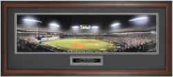 Florida Marlins Game 7 1997 World Series Shot Framed Unsigned Panoramic Photograph with Suede Matte