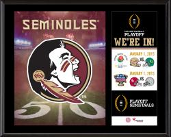 """Florida State (FSU) Seminoles College Football Playoff """"We're In!"""" Sublimated  12"""" x 15"""" Plaque"""