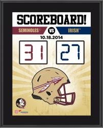 """Florida State Seminoles (FSU) 2014 Win Over Notre Dame Fighting Irish Sublimated 10.5"""" x 13"""" Scoreboard Plaque"""