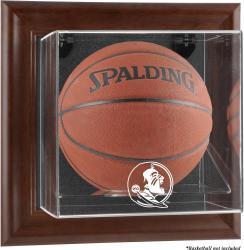 Florida State Seminoles Brown Framed Wall-Mountable Basketball Display Case