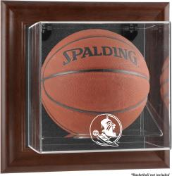 Florida State Seminoles (FSU) Brown Framed (2014 - Present Logo) Wall-Mountable Basketball Display Case