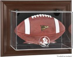 Florida State Seminoles Brown Framed Wall-Mountable Football Display Case