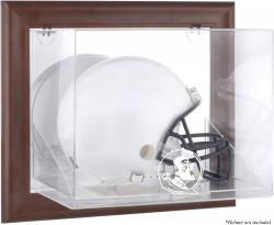 Florida State Seminoles Brown Framed Wall-Mountable Helmet Display Case