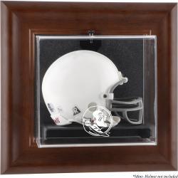 Florida State Seminoles (FSU) Brown Framed Wall-Mountable (2014 - Present Logo) Mini Helmet Display Case