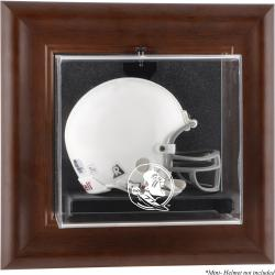 Florida State Seminoles (FSU) Brown Framed Wall-Mountable (2014 - Present Logo) Mini Helmet Display Case
