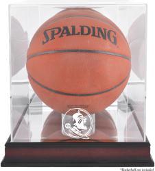 Florida State Seminoles Mahogany Antique Finish Basketball Display Case with Mirror Back