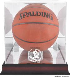 Florida State Seminoles (FSU) Mahogany Antique Finish (2014 - Present Logo) Basketball Display Case with Mirror Back