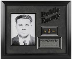 FLOYD, CHARLES FRAMED (PUBLIC ENEMY) PHOTO w/BULLET/PLATE