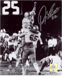 "Doug Flutie Boston College Eagles 1984 Hail Mary Celebration 8"" x 10"" Autographed Black and White Photograph"