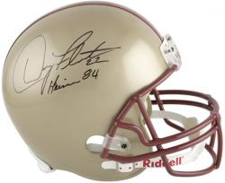 Doug Flutie Boston College Eagles Autographed Riddell Replica Helmet with 'Heisman 84' Inscription - Mounted Memories