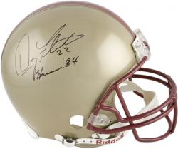 Doug Flutie Boston College Eagles Autographed Riddell Pro-Line Authentic Helmet with 'Heisman 84' Inscription - Mounted Memories