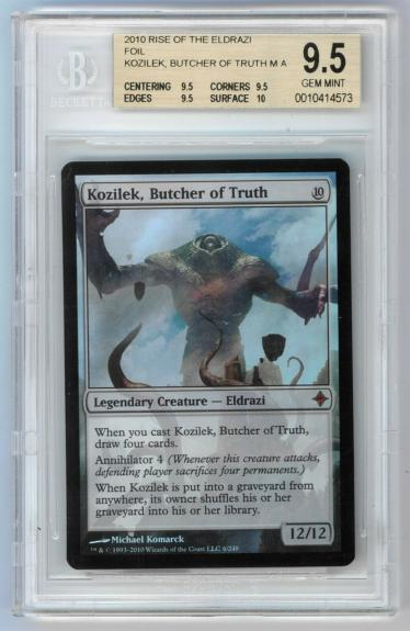 Foil - Kozilek, Butcher of Truth - Rise of the Eldrazi - BGS 9.5 - MTG Magic