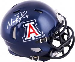 Nick Foles Arizona Wildcats Autographed Riddell Mini Helmet - Mounted Memories