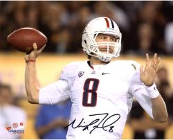 "Nick Foles Arizona Wildcats Autographed 8"" x 10"" Horizontal White Uniform Photograph"