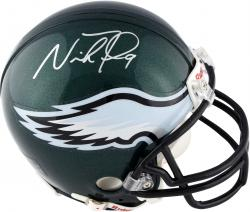 Nick Foles Philadelphia Eagles Autographed Riddell Mini Helmet - Mounted Memories
