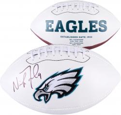 Nick Foles Philadelphia Eagles Autographed White Panel Football - Mounted Memories
