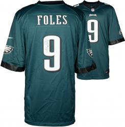 Nick Foles Philadelphia Eagles Autographed Nike Game Green Jersey