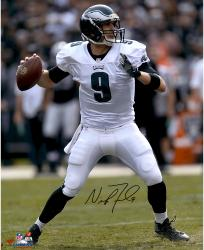 "Nick Foles Philadelphia Eagles Autographed 16"" x 20"" Vertical Passing Photograph"