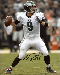 "Nick Foles Philadelphia Eagles Autographed 8"" x 10"" White Uniform Passing Photograph"