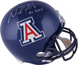 Nick Foles Arizona Wildcats Autographed Ridell Replica Helmet with Go Cats Inscription - Mounted Memories
