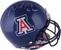 Nick Foles Arizona Wildcats Autographed Riddell Pro-Line Authentic Helmet with Go Cats Inscription