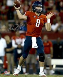 "Nick Foles Arizona Wildcats Autographed 16"" x 20"" Vertical Red Uniform Photograph with Go Cats Inscription"