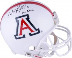 Nick Foles Arizona Wildcats Autographed Riddell Pro-Line Authentic White Helmet with Go Cats Inscription