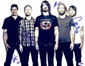 "Foo Fighters Autographed 11""x 14"" With 5 Signatures Horizontal Complete Band Photograph - PSA/DNA LOA"