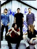 "Foo Fighters Autographed 11""x 14"" With 5 Signatures Vertical Complete Band Photograph #2 - PSA/DNA LOA"