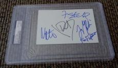Foo Fighters 1998 Band Signed Autographed 4x6 Index PSA Certified & Slabbed