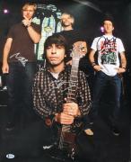 Foo Fighters (4) Grohl, Hawkins, Mendel, Shiflett Signed 16X20 Photo BAS #A80991
