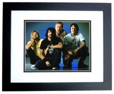 Foo Fighters Signed - Autographed 11x14 inch Photo signed by Dave Grohl, Nate Mendel, Taylor Hawkins, and Chris Shiflett BLACK CUSTOM FRAME - Guaranteed to pass PSA or JSA