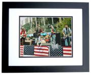 Foo Fighters Signed - Autographed 11x14 inch Photo signed by Dave Grohl, Nate Mendel, Taylor Hawkins, Pat Smear, and Chris Shiflett BLACK CUSTOM FRAME - Guaranteed to pass PSA or JSA