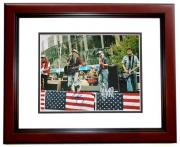 Foo Fighters Signed - Autographed 11x14 inch Photo signed by Dave Grohl, Nate Mendel, Taylor Hawkins, Pat Smear, and Chris Shiflett MAHOGANY CUSTOM FRAME - Guaranteed to pass PSA or JSA