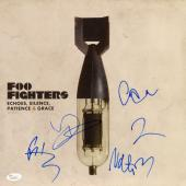 Foo Fighters Autographed Echoes, Silence, Patience & Grace Album Cover - PSA/DNA COA
