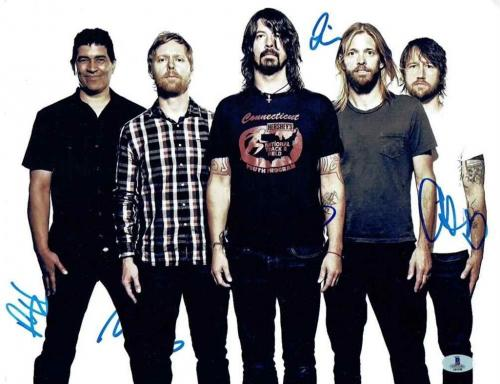Foo Fighters Autographed Signed 11x14 Photo Certified Authentic Beckett BAS COA