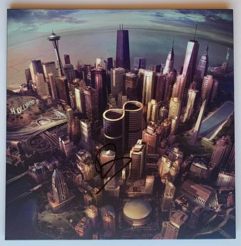 "Foo Fighters Autographed ""Sonic Highways"" Vinyl Record Album Dave Grohl  BAS COA"