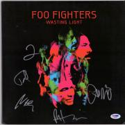 Foo Fighters Autographed Wasting Light Album Cover with 5 Signatures - PSA/DNA