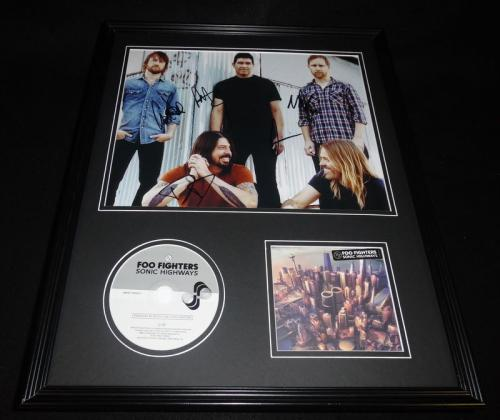 Foo Fighters Band Signed Framed 16x20 Sonic Highways CD & Photo Display