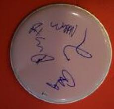 Foo Fighters Full Band Signed Autograph Drumhead Dave Grohl + 4 Beckett BAS COA