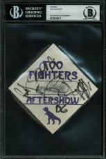 Foo Fighters Original (4) Grohl,  Smear +2  Signed 3.5x3.5  Sticker BAS Slabbed