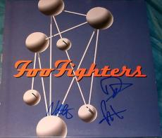 """Foo Fighters Signed Autograph Full Band """"colour Shape"""" Album & Vinyl Dave Grohl"""